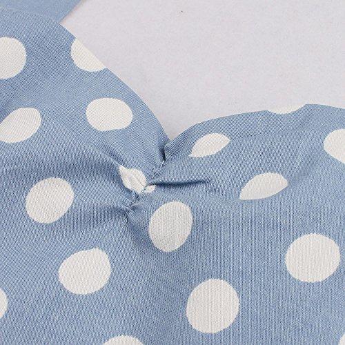 MicBridal® 1950er Vintage Ballkleider Chic Neckholder Retro Hepburn Pinup Rockabilly Partykleider Abendkleider BlauPunkt