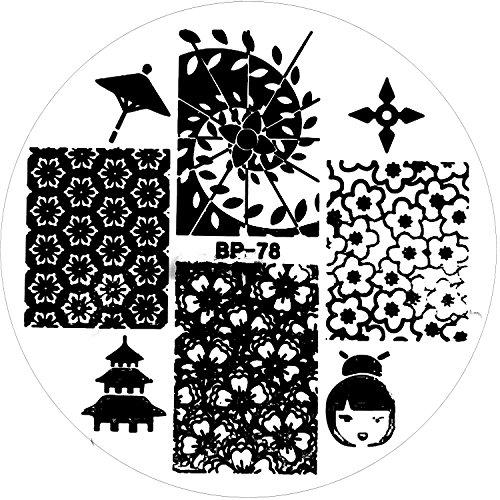 stamping-de-plantilla-bp-de-78-espiral-cerezo-geisha-japon