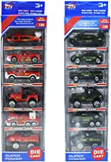 Model Cars Toys for Kids 6 Pack Assorted Vehicles and Race Car Toys for Kids Vehicles Truck Mini Car Toy for Boy Pull Back and Go Car Toy Play Set (The Style May Vary)