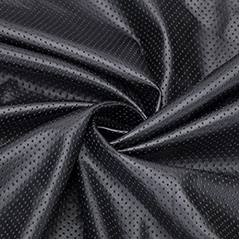 Neotrims FAUX LEATHER PU PVC Airtex Style Eyelet Fabric,Water Resistant, Stretch and ResilientSoft Material. Fat Quarters or by Meter. Brown, Black or Cream. Luxurious Soft Handle; Vegan Alternative to Animal Skin. Great Price. - Black - 12X 8Cms (Sample)