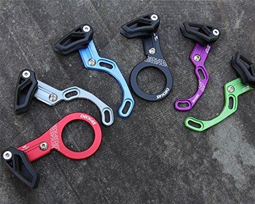 Grofitness Fahrrad-Kettenblatt-Führung, schmal/breit 32T-40T, Schutz, Displayschutzfolie, Ein-Gang-Kette, direkte Montage, grün, ISCG03