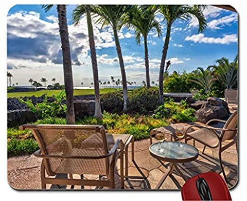 Golf Course overlooking Beach and Ocean Maui Hawaii mouse pad