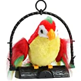 HUHU833 Talking Parrot Plush Toys, Adorable Mimicry Pet Record Speak Voice Copy Electronic Mouse Toy Best Gift