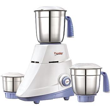 Prestige Popular 550-Watt Mixer Grinder (White/Blue)