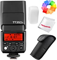 Godox TT350°F 2,4G HSS 1/8000s Flash TTL GN36kamera Speedlite Fuji kamerası için X-PRO2X-T20X-T2X-T1X-Pro1X-T10E1X-