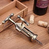 Rustic Copper Wanleo Easy Grip Screwpull Lever Corkscrew Wine Bottle Opener