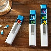 DAHAI FU 1 STÜCK Tragbare Bequem Portable Pill Box 3 Container Halter Lagerung Medizin Pillen Fall (WHITE) preisvergleich bei billige-tabletten.eu