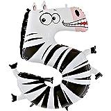"Grabo 45-0WE-P Número 5 Zebra Animaloons Single Pack, Longitud-40"", Multicolor, Talla Única , color/modelo surtido"