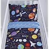 Reversible planetas funda de edredón y funda de almohada para cuna (–90cm x 120cm