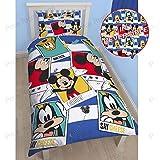 Character Kids niños juego de funda de edredón ropa de cama de Disney–Mickey Mouse–Mickey nuevo en