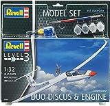 Revell 63961 - Modellbausatz Flugzeug 63961 Set 1:32 - Gliderplane Duo Discus im Maßstab 1:32, Level 3, Orginalgetreue Nachbildung mit Vielen Details, Segelflugzeug -