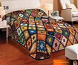 Kuscheldecke Tagesdecke Wohndecke Plaid mit 3D-Effekt Patchwork-Design 155x200cm (Nr.38)