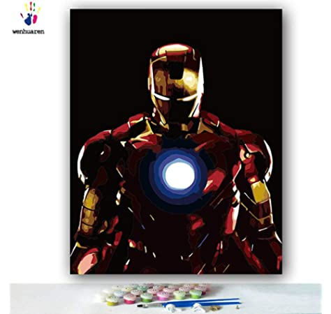 Shukqueen DIY Paint by Numbers for Adults DIY Oil Painting Kit for Kids Beginner Without Frame Assault Soldier 16x20 Inch
