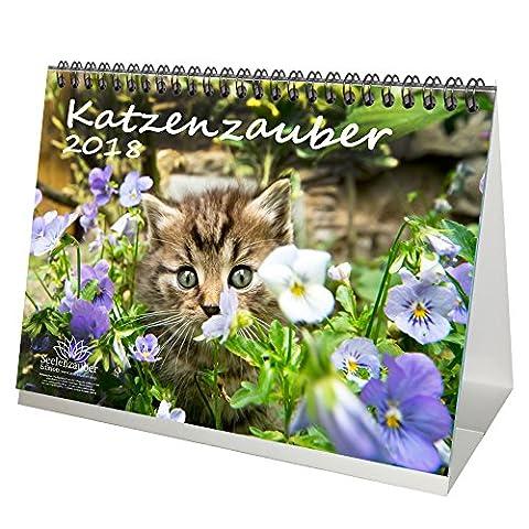 Premium Tischkalender / Kalender 2018 · DIN A5 · Katzenzauber · Katze · Stubentiger · Tier · Edition (Katze Weihnachtskarten)