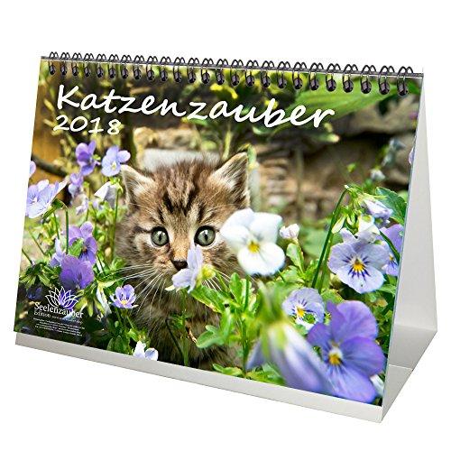 Premium Tischkalender / Kalender 2018 · DIN A5 · Katzenzauber · Katze · Stubentiger · Tier · Edition Seelenzauber