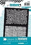 Carabelle Studio Gridlines Placa Textura, Caucho, Blanco, 9.0x13.5x0.5 cm