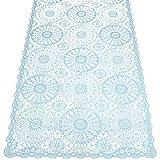 KERSTEN · LEV-9770 Outdoor-Tischläufer Tischdecke abwischbar HD-Collection' Lace Crochet' 150cm · hellblau