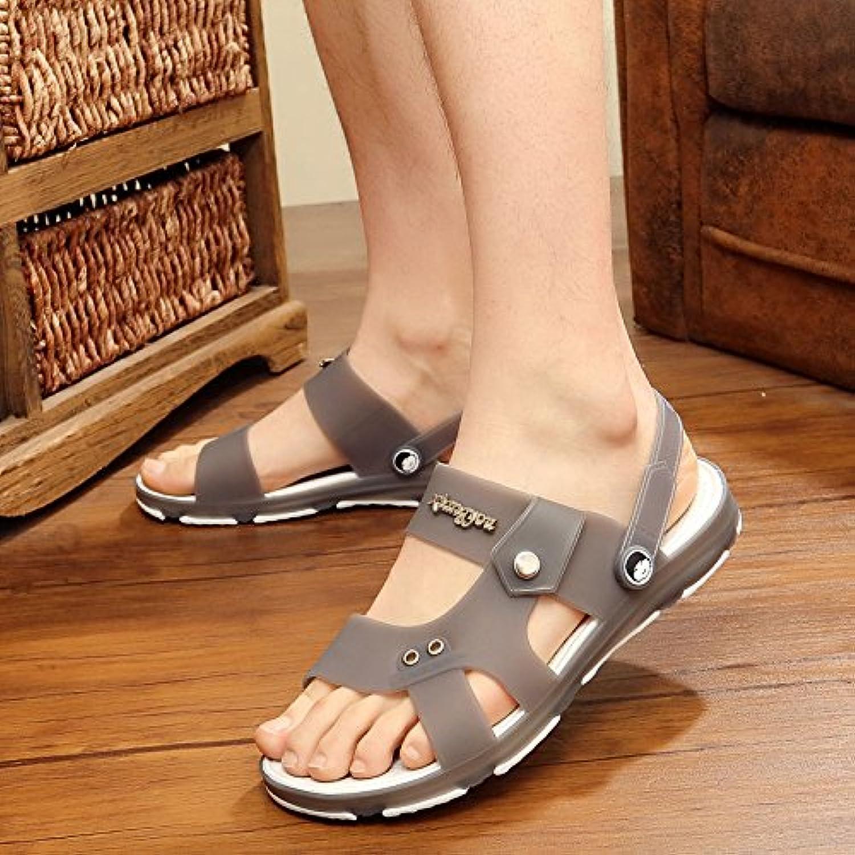 Verano hombres chanclas sandalias sandalias Zapatillas antideslizante Drive Cool RP,Cuarenta y tres,Light Grey