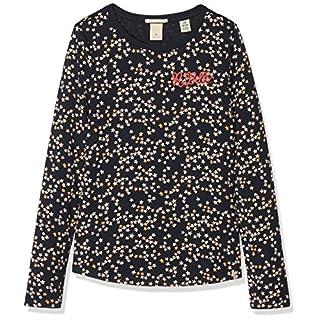 Scotch & Soda R´Belle Mädchen T-Shirt Long Sleeve with Aop & Chest Artwork, Mehrfarbig (Combo E 221), 152 (Herstellergröße: 12)