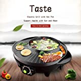 Jumix Multi Functional Electric BBQ Hotpot Non Stick Raclette Double Layer Barbecue Grill Type Pan for Tandoor 2 in 1…