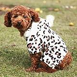 Hundeweste,Hundemantel für kleine Hunde, Anastasia.Hundekostüm Leopard Kleid Strickwaren Hundepullover Hundemantel Katzen Kleidung Puppy Hoodie Kleidung Warmer Wintermantel Pet Coat