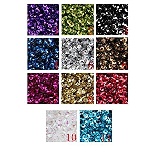 3mm Mini Tiny CUP SEQUINS BLACK Gold Colours. Loose sequins for embroidery, applique, arts, crafts and embellishment 11 Colours