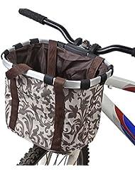 Docooler Damen Fahrradkorb/Fahrradkorb Shopper, Material: Aluminiumlegierung und Oxford Tuch, Gr??e: 34 * 28 * 25cm