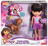 Fisher-Price Nickelodeon Dora Friends Toy - Dora 12 Inch Doll and Perrito Puppy - Train and Play