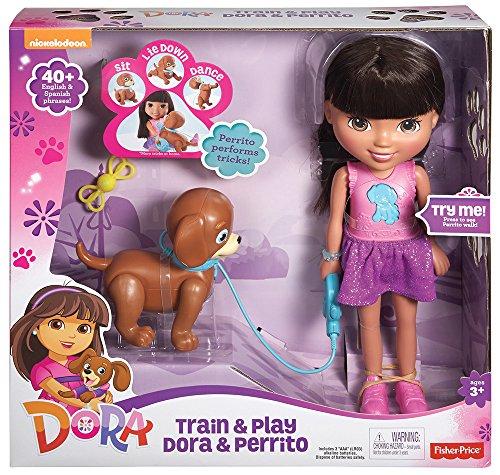 Mattel CGT65 - Fisher-Price - Dora - Train & Play Dora y Perrito Cachorro [DVD]