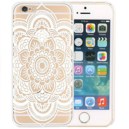 iPhone 6/6S Case motivo Case Mandala (weiß)