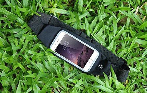 Vandot marsupio sportivo marsupio per Jogger, Running e Outdoor impermeabile Belt Borsa marsupio Borsa da cintura corsa Bag per Cellulari e Smartphone fino a 4.7Pollici (iPhone 4S 55S 5C se 66s Sa Schwarz_5.5 Zoll