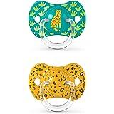 SUAVINEX Nuevo Pack 2x Chupetes Fisiológicos Sx Pro, Para Bebés +18 Meses, Tetina Más Plana Y Flexible, color Verde, +18 Mese
