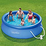 Summer Waves Fast Set Quick Up Pool + Pumpe 305x76cm Swimming Pool Familien Schwimmbad mit Filterpumpe -