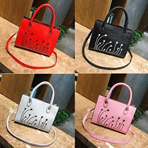 Damen Handtaschen, Huhu833 Frau Tote Casual Taschen Crossbody Tasche Druck Leder Handtasche Schultertasche Grau