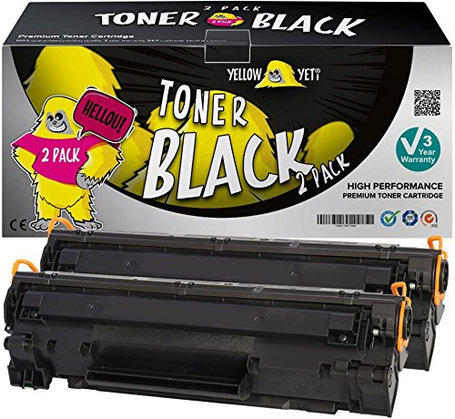 Yellow Yeti 2 Toner kompatibel für HP Laserjet Pro P1100 P1102 P1102w M1212nf M1213nf M1217nfw M1132 MFP Canon i-SENSYS LBP-6000 LBP-6018 LBP-6020 LBP-6020B MF-3010 [3 Jahre Garantie] -