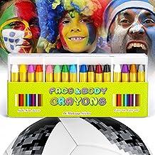 JamBer crayones de pintura de cara 16 colores pintados con pintura corporal para niños, seguros y no tóxicos