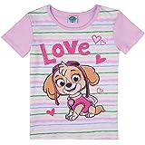 LA PATRULLA CANINA, Paw Patrol niñas T-Shirt, Camiseta, Rosa