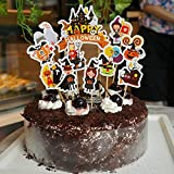 Yimosecoxiang Halloween Hot 11PCS/set decorazione di Halloween zucca strega grave cake topper party supplies Multi