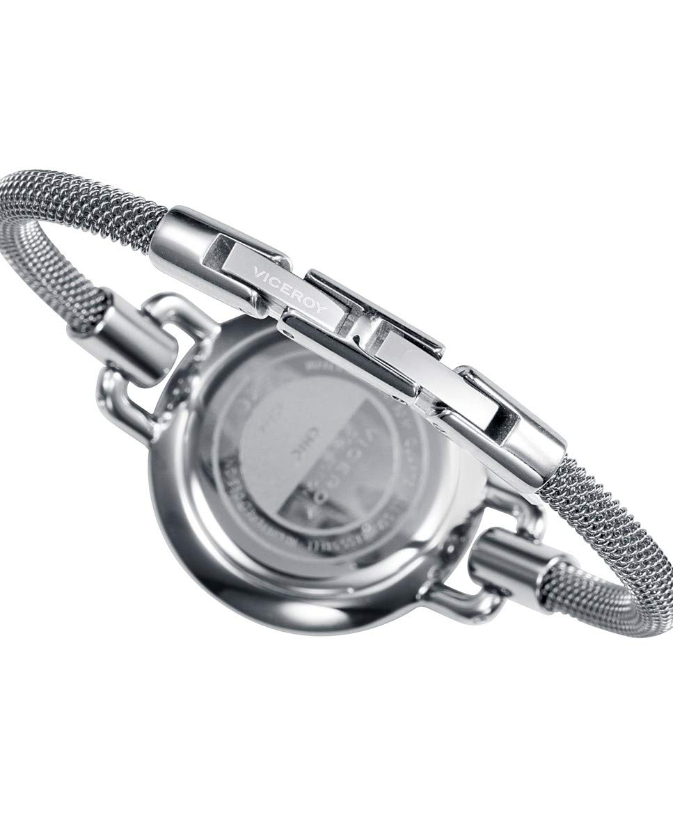 Viceroy Reloj Mujer correa de acero, plata/negro