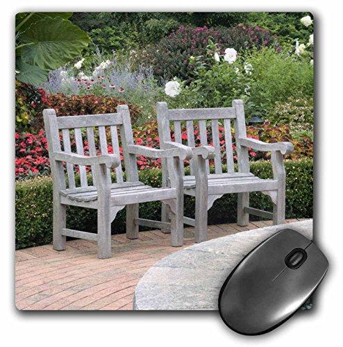 danita-delimont-gardens-empty-wooden-chairs-along-a-garden-path-na01-rkl0009-raymond-klass-mousepad-