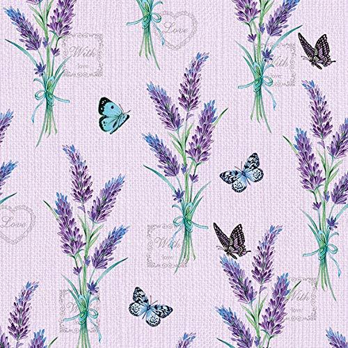 """Serviette\""""Lavendelliebe\"""" 5 Stück"""