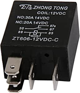 Gazechimp Kfz Relais 12v 20a 30a Amp 5 Pin 5p Schliesser Umschaltrelais Wechsler Auto