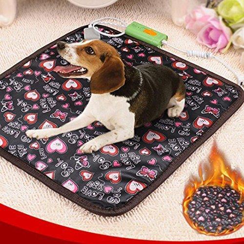 Inverlee 45x45cm Waterproof Blanket Dog Cat Bed Pet Warm Electric Heat Heater Pad Mat (Multicolor)