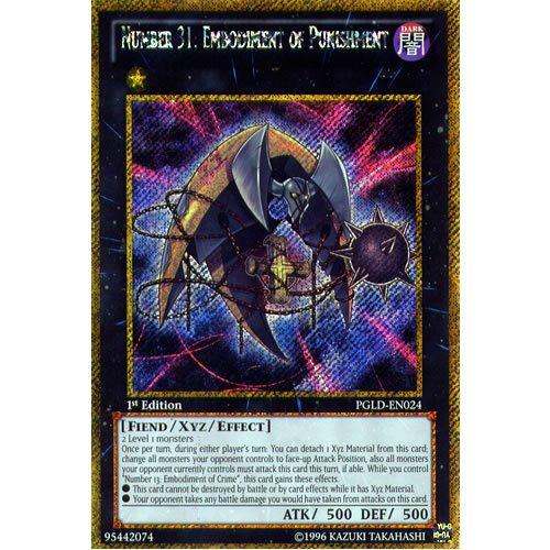 Number 31 Embodiment of Punishment PGLD-EN024 Gold Secret Rare Yu-Gi-Oh Card