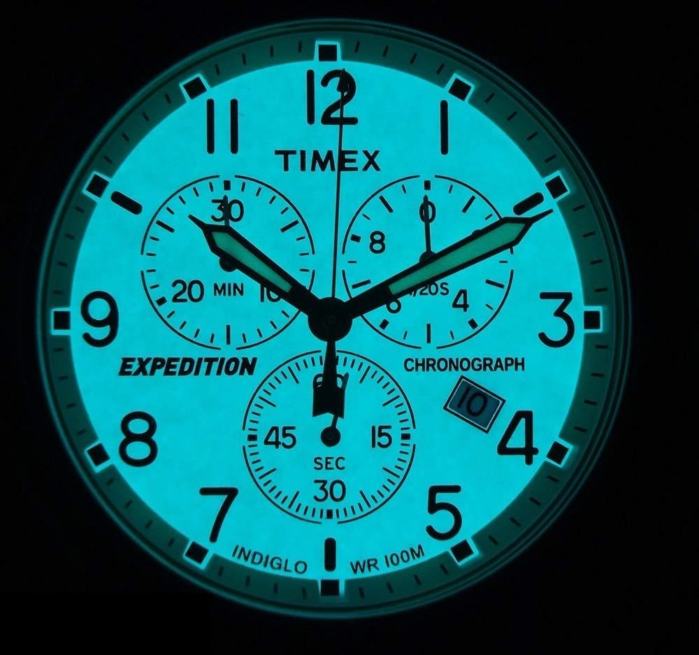 Timex Expedition Scout Chrono Reloj Cronógrafo para Hombre de Cuarzo con Correa en Cuero TW4B09200