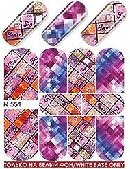 milvart - water decals - milvart - n551 full - intégral