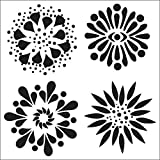 Crafters Workshop Template, 6 by 6-Inch, Flowers
