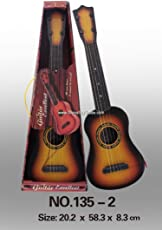Jannat 4-String Acoustic Wooden Guitar Learning Kids Toy (Without Battery).