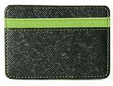Billetera Mágica Efectivo Identificación Tarjetas Delgada con Broche para Slim soporte Mini cartera ID caso monedero (Verde)