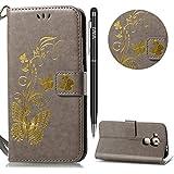 WIWJ Huawei Nova Plus Hülle,Nova Plus Leather Handyhülle, Handyhülle Wallet Case[Heißprägen...